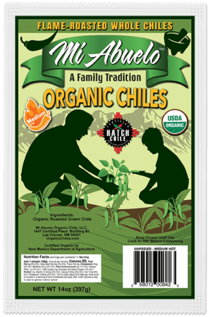 Organic Whole Roasted Hatch Green Chiles Medium Hot