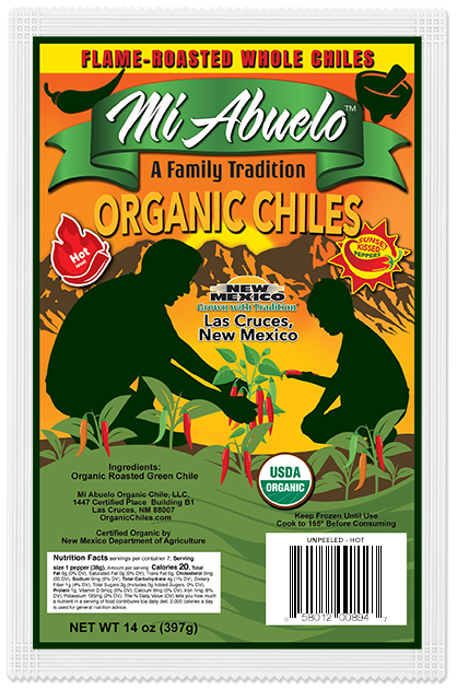 Our organic red chile peppers are carefully selected and hand-picked with care at their precise hot flavor peak.